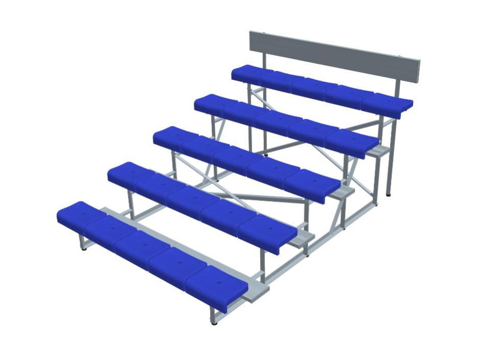 5排单踏椅 * YY-5LDZ-2250