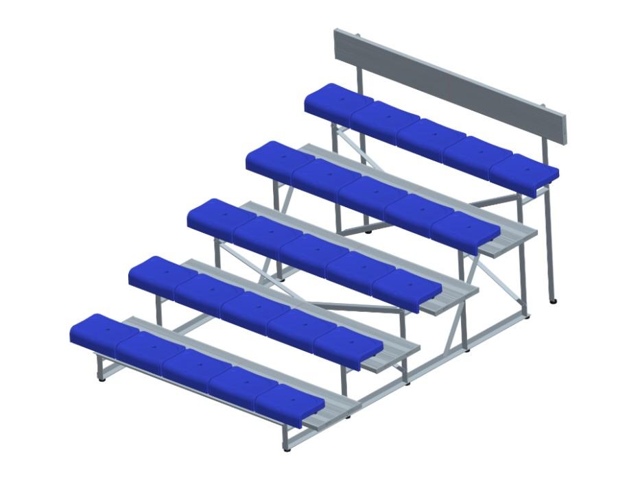 5排双踏椅 * YY-5LSZ-2250